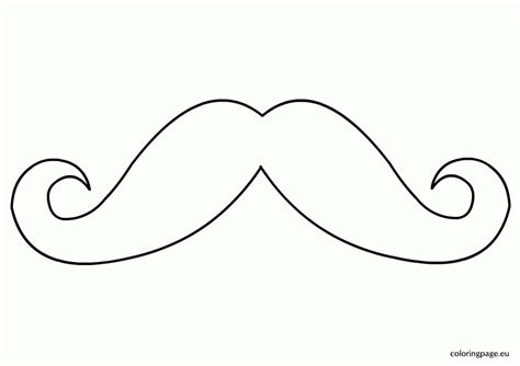 Moustache Coloring Pages Mustache Coloring Page Coloring Home