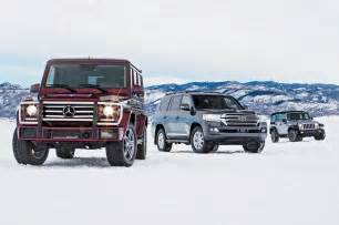 Jeep Toyota Land Cruiser Jeep Wrangler Vs Mercedes G550 Vs Toyota Land Cruiser