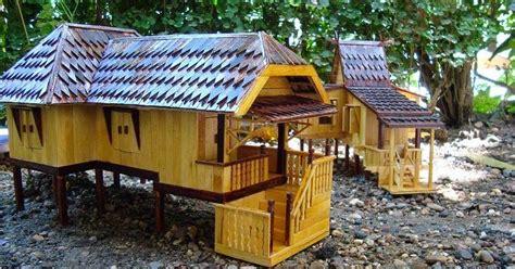 Harga Miniatur Rumah Kayu by Gp3 Hss Kerajinan Tangan Miniatur Rumah Adat Banjar