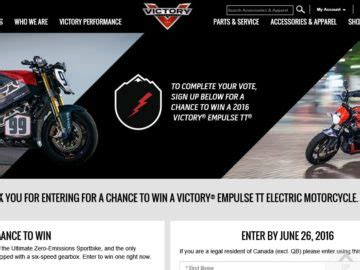 Victory Motorcycle Sweepstakes - the 2016 victory motorcycles ppihc thunder vs lightning sweepstakes