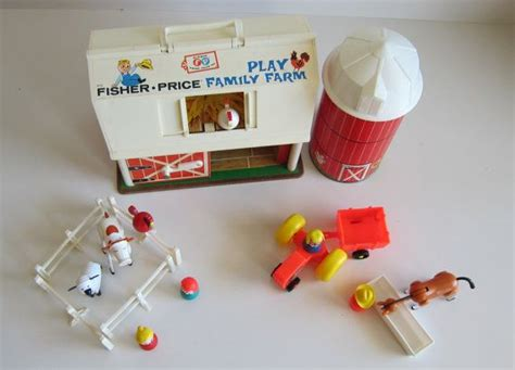 Fisher Price Family Farm Barn With Silo Little People Toy Fisher Price Barn Door