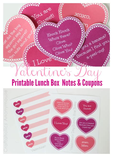 valentines day note craftaholics anonymous 174 printable valentines day lunch