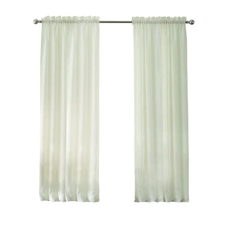 semi sheer curtains white home decorators collection white 290 gsm curtain 50 in