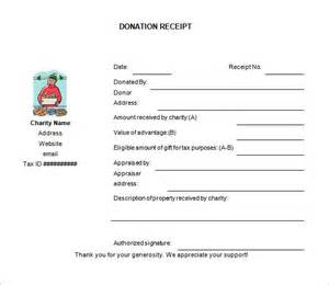 non profit donation receipt template donation receipt template 8 free word excel pdf