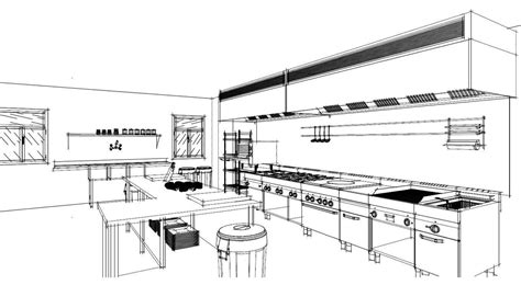 detail   commercial kitchen sketched  autokitchen
