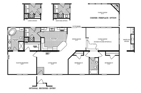 clayton homes floor plans manufactured home floor plan 2006 clayton jamestown 28x64 33jat28643ah06