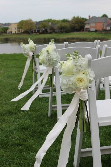 Wedding Aisle With Flowers by All White Flowers For Weddings Aisle Flowers Stonebridge