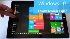 Windows 10 touchscreen tips for surface and tablet users gestures