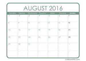 August 2016 calendar printable calendars