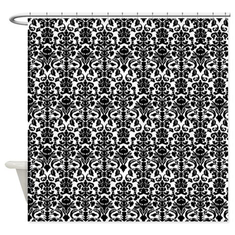 damask curtains black and white black damask shower curtain by inspirationzstore