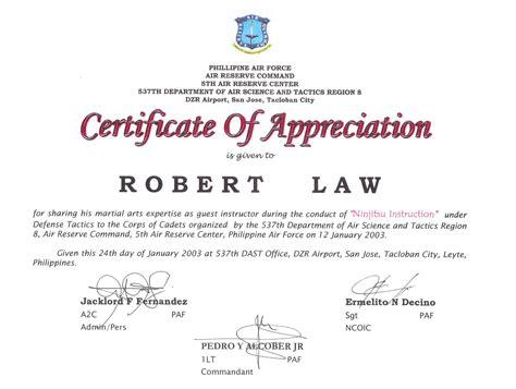 air certificate of appreciation template sle air certificate of appreciation gallery