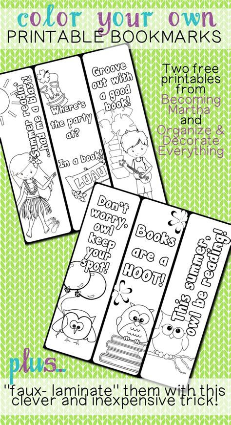 Printable Color Your Own Bookmarks | welcome to memespp com