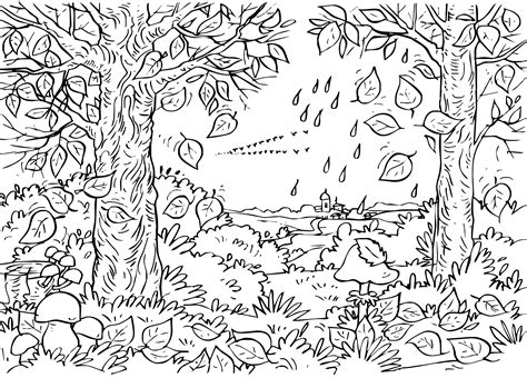 autumn mushroom adult coloring coloring pages