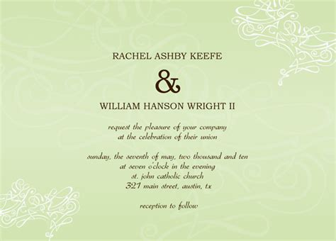 how to word a wedding invitation with no dinner wedding invitation templates word start creating modern