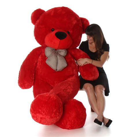 size teddy for valentines day 6 foot size valentine s day teddy bitsy
