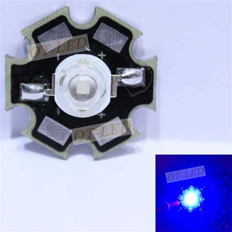 High Power Led 3w Blue freeshipping 10pcs 3w royal blue high power led emitter 700ma 450 455nm with 20mm platine