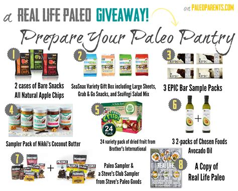 real paleo giveaway prepare your paleo pantry