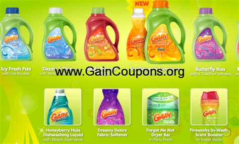 printable gain fabric softener coupons gain fabric softener gain coupons