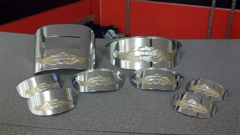 golden eagle light covers complete set of gold eagle light visors harley davidson