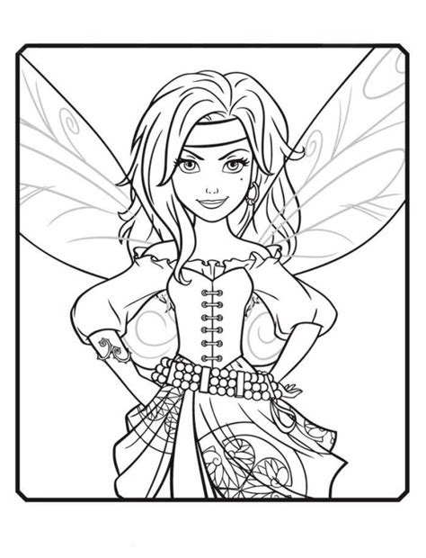 kids  funcom  coloring pages  tinkelbell pirate fairy