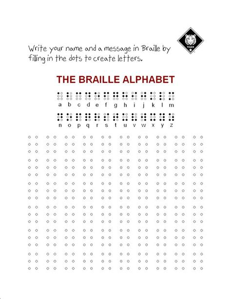 Braille Worksheets Printables by 143 Best Images About Scouts On Wolves Wolf