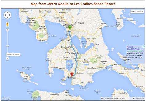 map of resort in laiya batangas les caraibes resort map 1 from san juan batangas