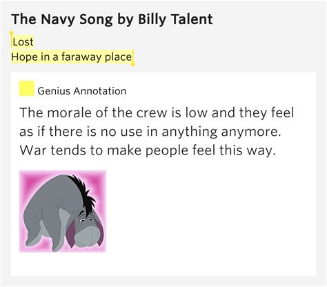A Place Lyrics We Lost The Sea Lost In A Faraway Place The Navy Song Lyrics Meaning
