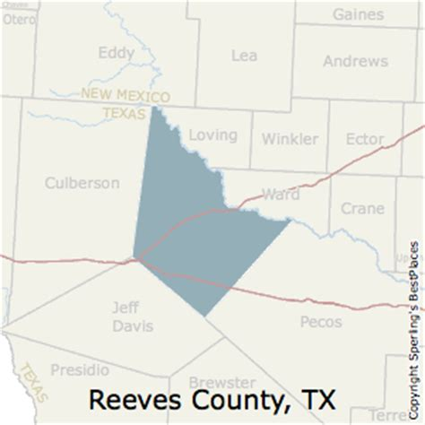 reeves county texas map best places to live in reeves county texas