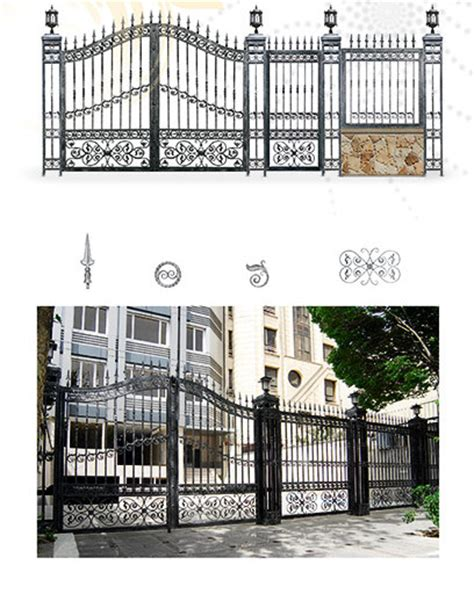 Modern Windows wrought iron gate iron fence wrought iron component