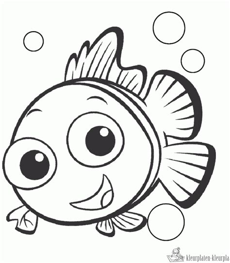 Baby Nemo Coloring Pages | kleurplaten finding nemo kleurplaten kleurplaat nl