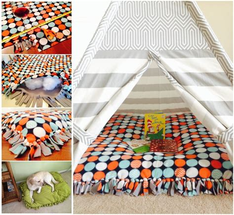 floor pillow bed diy no sew pets bed or floor pillow