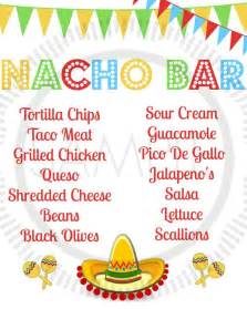 taco cinco de mayo taco bar nacho bar