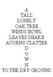Materials flicker flash white paper example of a concrete poem