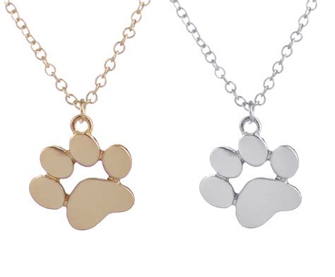 pet paw necklace pehts