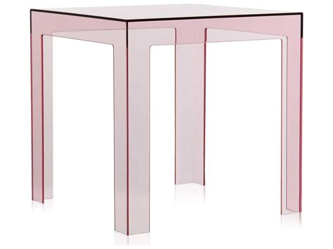 16 wide end table kartell jolly transparent pink 16 wide square end table