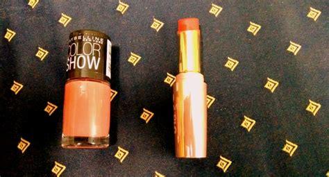 summer favourite lipstick  nail polish  dusky
