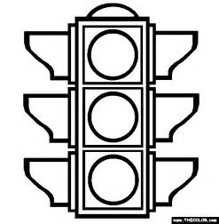Traffic Signals Colouring Pages