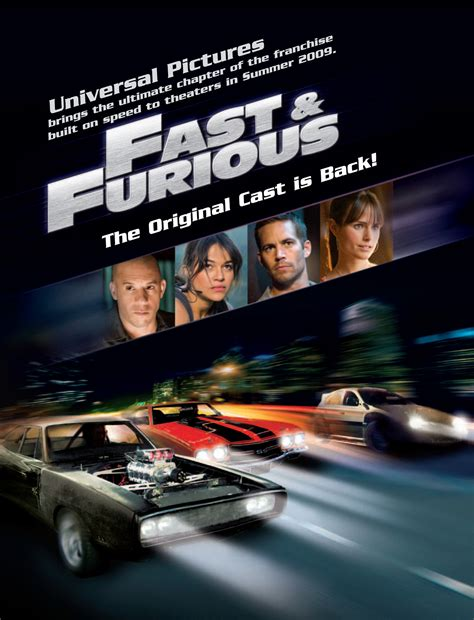 movie fast and furious 4 poster fast and furious 4 2009 poster furios și iute 4