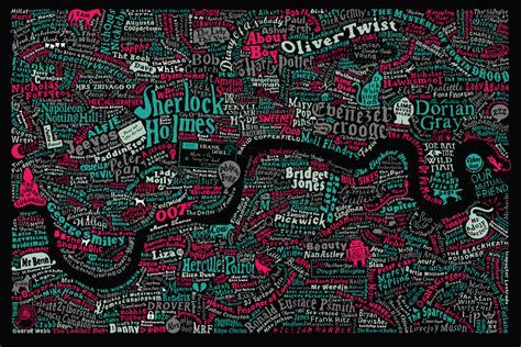 literary london map literary london art prints limited edition graphic art