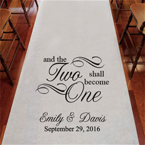 Wedding Aisle Runner Australia by And The Two Shall Become One Personalized Aisle Runner