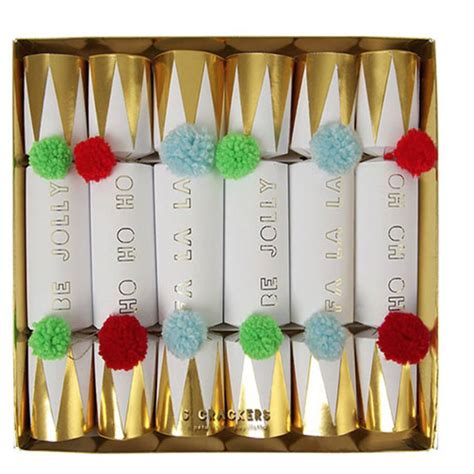 pom pom christmas cracker by magpie decor