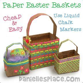 Paper Lunch Bag Crafts - paper lunch bag easter baskets from www daniellesplace