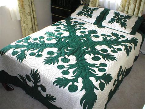 Hawaiian Quilt Bedding by Breadfruit Hawaiian Quilt 2 Pillow Shams Slate Ebay