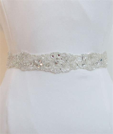 white beaded belt beaded bridal belts wedding sash trim belt white ivory
