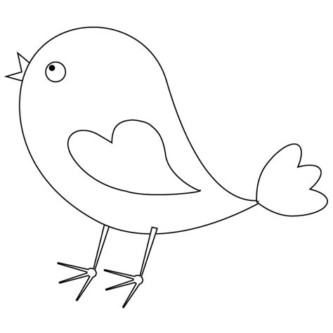 coloring pages cute birds bird coloring page