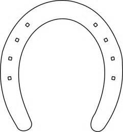 horseshoe template horseshoe template printable clipart best