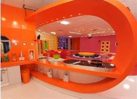 Modern Kitchen Interior Retro Orange Kitchen Retro Home Interior Design