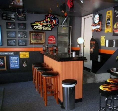 awesome man cave bar harley davidson inspired paint colors