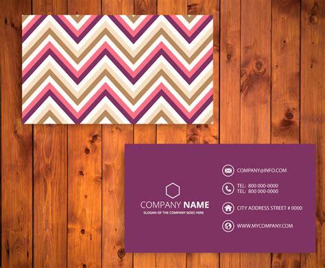Chevron Business Card Template Free by Chevron Business Card Template Vector Graphics