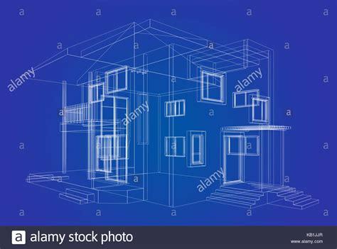 blueprint project building design and 3d rendering model